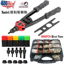 12 Rivet Gun Kit Rivnut Thread Setting Tool Nut Setter Nutsert Metric 900 Nuts