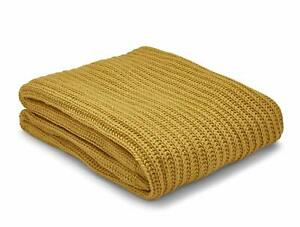 Chunky-Knit-Ochre-Throw-By-Catherine-Lansfield