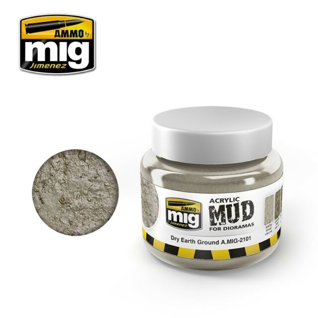 AMMO by Mig Jimenez Acrylic Mud for Diorama - Dry Earth Ground (250ml)