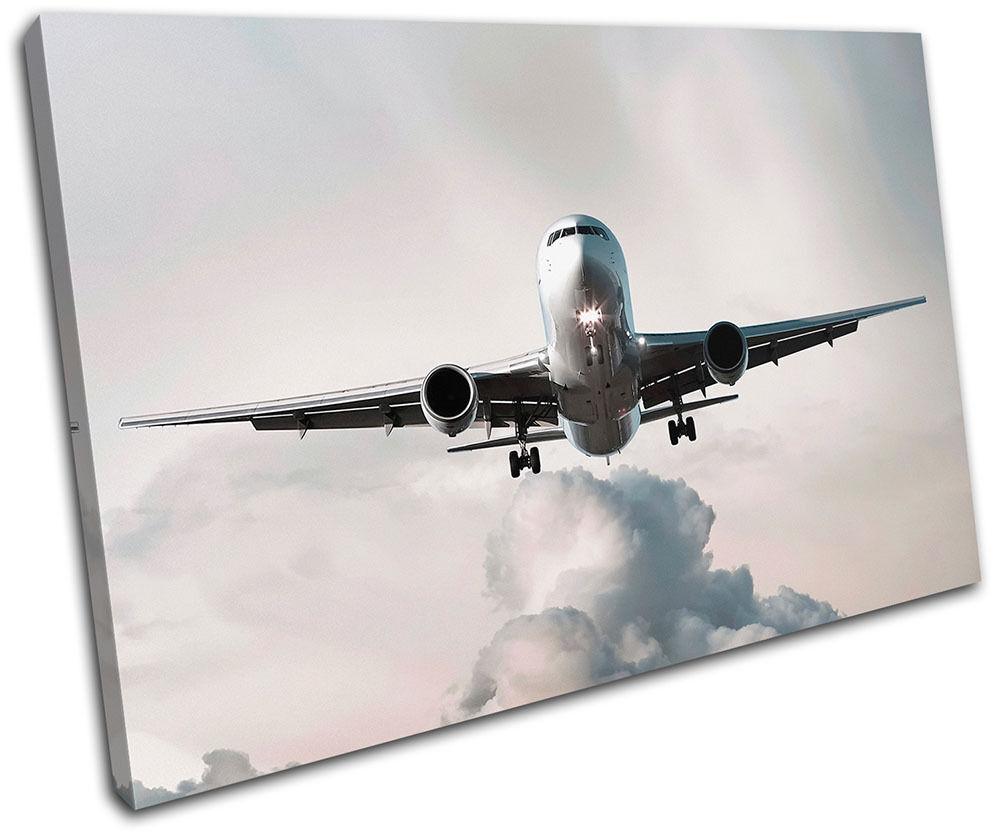 Airplane Jumbo Jet Transportation SINGLE SINGLE SINGLE TELA parete arte foto stampa 2227ab