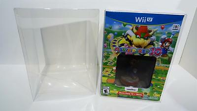 1 CLEAR BOX PROTECTOR  FITS MARIO PARTY 10 WII U SPECIAL EDITION  AMIIBO  CASE