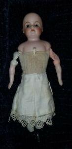Antique-Kling-Allemand-123-5-0-yeux-en-verre-solide-Dome-tete-bisque-dollhouse-doll-7-034