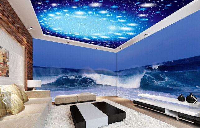 3D Circle Star Sky WallPaper Murals Wall Print Decal Deco AJ WALLPAPER GB