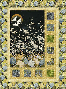 Sidelights,Quilt Pattern for Panels & Large Scale Fabric, DIY ... : quilt patterns with panels - Adamdwight.com