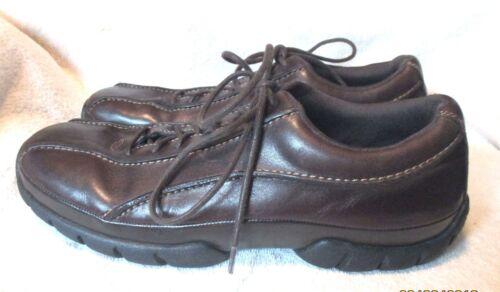 Xcs 10m in suola pelle rockport Stringata divisa marrone casual Euc scarpa Uxv5wg