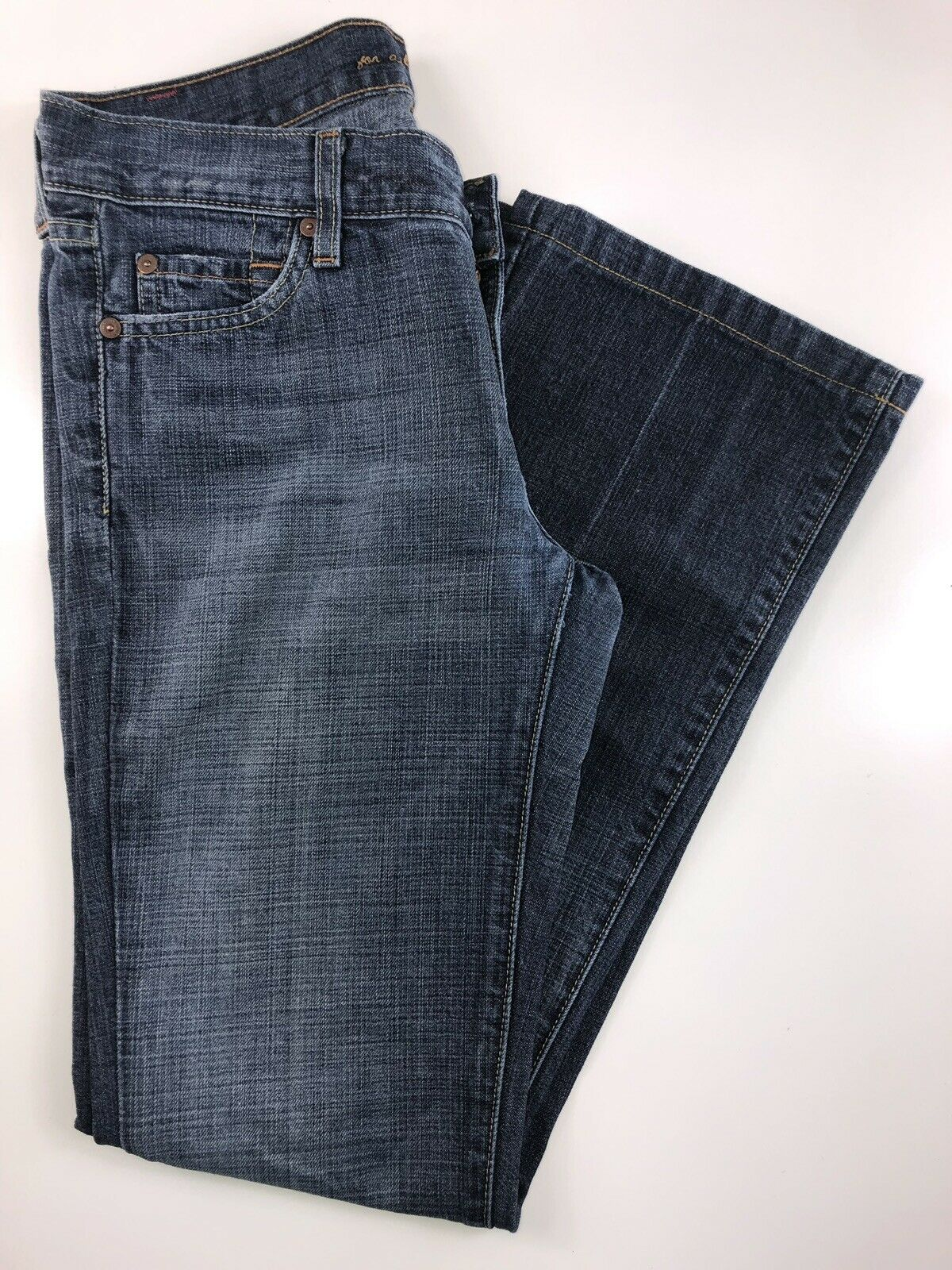 7 for all mankind Medium Wash BootCut Low Rise Jeans Size 28. 28x30x8x16