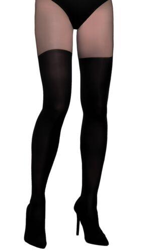 Women black tights over knee pattern Layla Gajatex