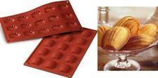 STAMPO IN SILICONE NR.15 MADELEINES MM 44 X 34 H 10 MM LINEA Classic SILIKOMART