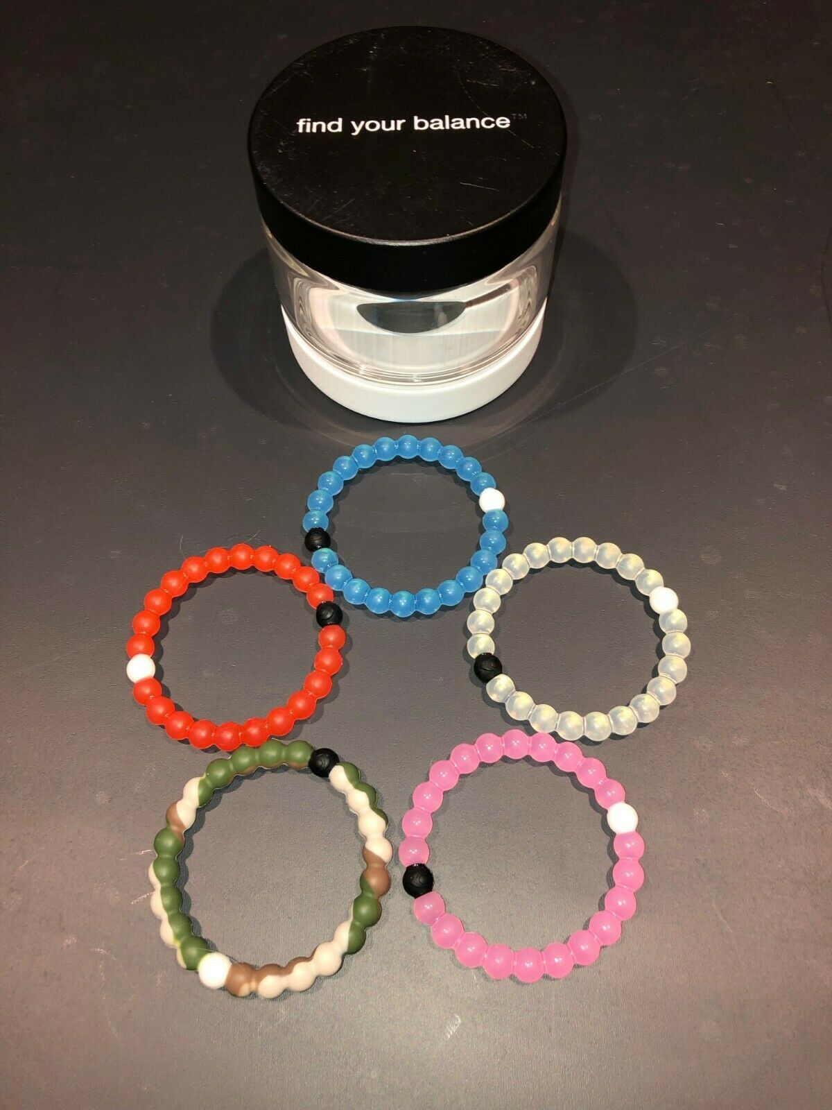 Limited Edition of 5 Small Lokai Bracelets (bluee, Pink, Camo, orange, Original)