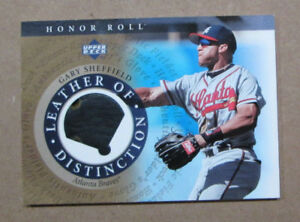 Details about SCARCE 2003 UD HONOR ROLL GARY SHEFFIELD GAME WORN GLOVE CARD ATLANTA BRAVES