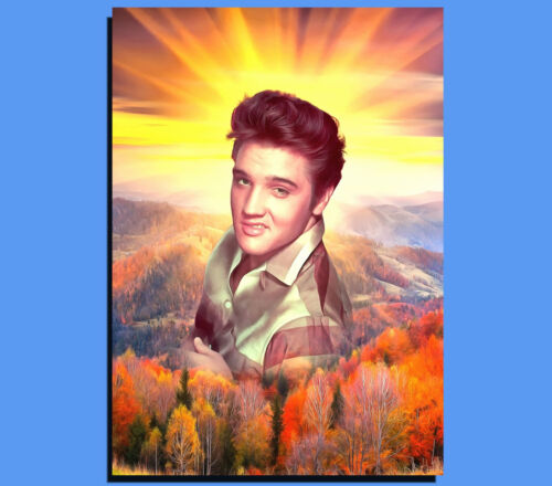 Box Canvas: Elvis Presley Art Portrait Various Sizes Ready To Hang