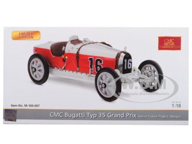 BUGATTI T35 NATIONAL COLOUR PROJECT MONACO LTD ED 1 1 1 18 MODEL BY CMC 100B007 f13dd6