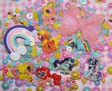 250 un. 7 Little Pony arcilla Arco Iris y arco teléfono caso Hágalo usted mismo kit Cabochon Perlas mixto