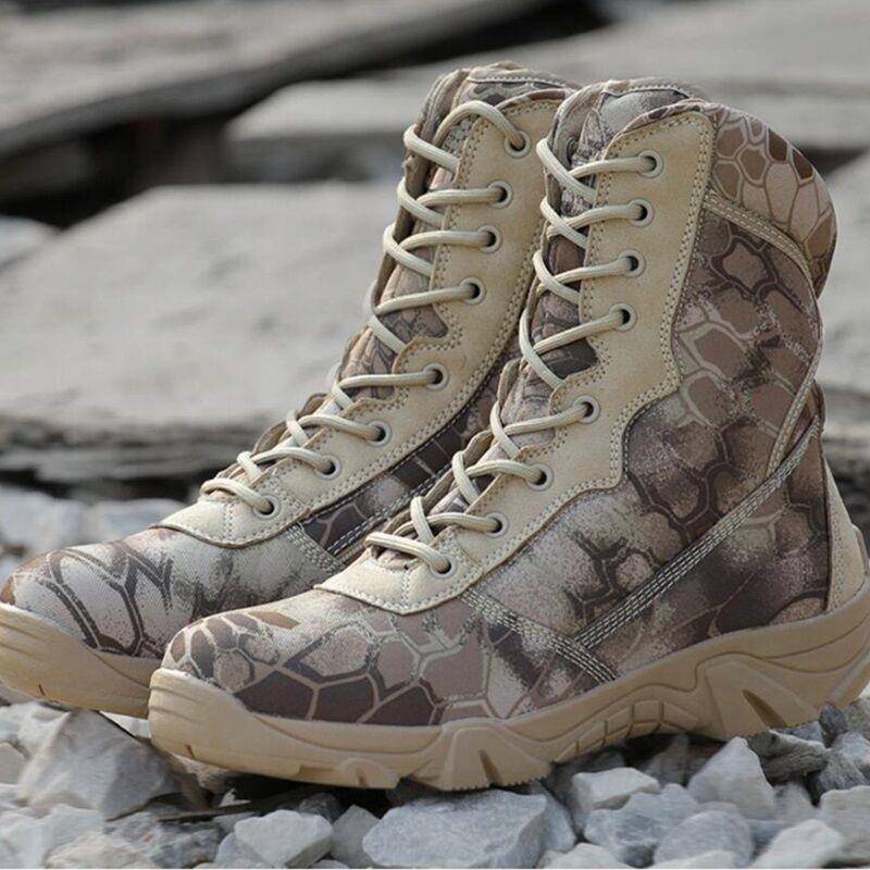 Nuovi Uomini Mimetico Tattica Di Combattimento Militare Parte Zip Zip Parte Lavoro Caviglia Anfibi Scarpe d6594f