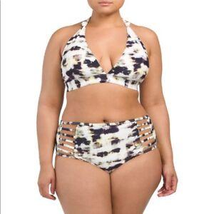 279776fea3ccc New Rachel Roy Marble Tie Dye Bikini 2PC Swimsuit Swimwear Plus Size ...