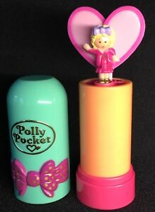 Polly Pocket Mini © 1992 - Arc à lèvres rouge à lèvres Pop Ups Bow
