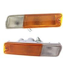 1 PAIR CRYSTAL FRONT BUMPER LIGHTS LAMP FOR Mitsubishi Mighty Max L200 Triton 19