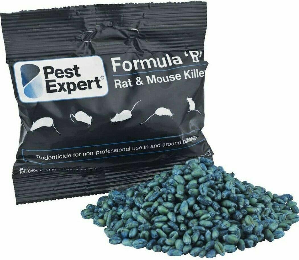 Rat Killer Poison Grains- Pest Expert Formula 'B' 100g Sachet. Highly Effective