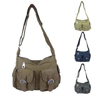 1afbe93df3997d Das Bild wird geladen Damen-Handtasche-Schultertasche-leichte-Stofftasche -Umhaengetasche-680-9MH