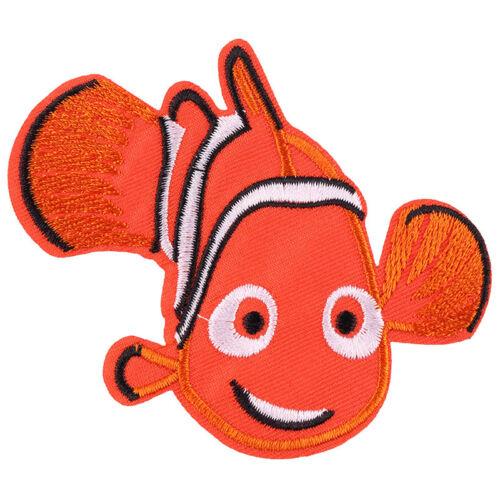 "1pcs Cartoon Nemo Fish Embroidered Iron//Sew ON Patch Kids Cloth Applique3.5X2.5/"""
