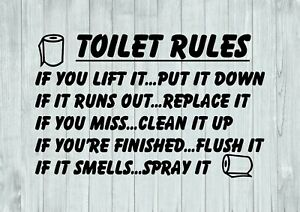 Toilet-Rules-With-Rolls-Bathroom-Inspired-Design-Wall-Art-Decal-Vinyl-Sticker