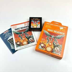 Yars-039-Revenge-for-Atari-2600-Complete-in-Box-With-Manual-FREE-SHIPPING-VTG-Rare