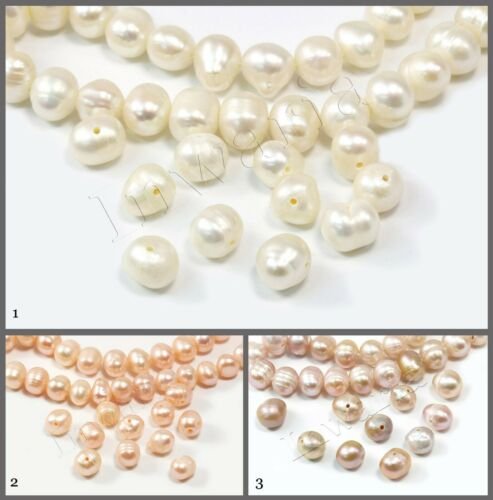 Perlas 6,5-7,8 mm agua dulce perlas 20 unid p-80 cultivadas
