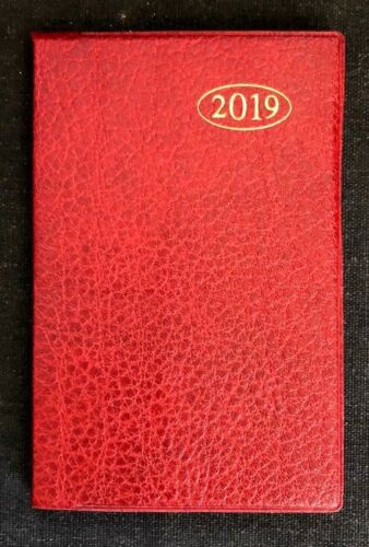 CHOOSE COLOUR WEEK TO VIEW SLIM LEATHER EFFECT,A7 SIZE POCKET DIARY 2019