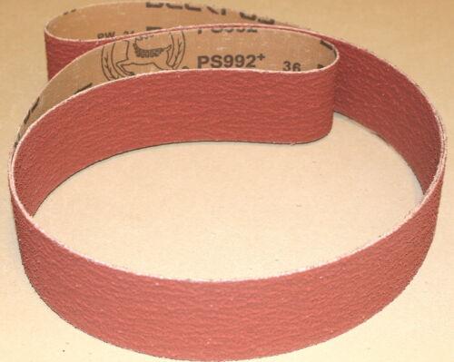 """5 Belts 2/"""" x 48/""""  Premium Ceramic Sanding Belts 36 Grit"""
