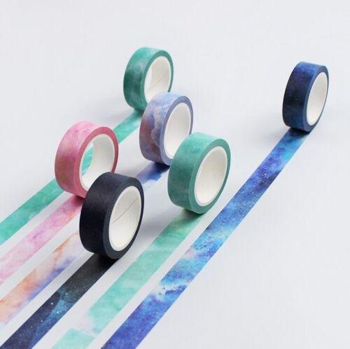 DIY 8M Decorative Sticky Washi Paper Tape Starry sky  Diary Album Scrapbooking