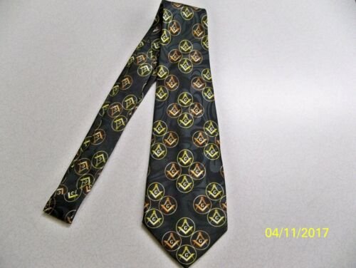 square  compass quality mens necktie #45 Mason Masonic Freemasonry Fraternal