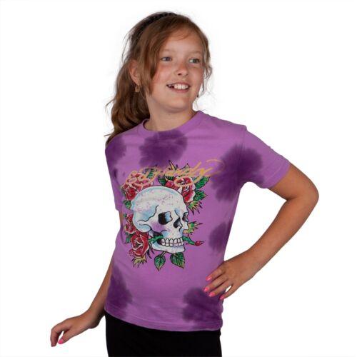 Skull Rose Girls Juvy T-Shirt Ed Hardy