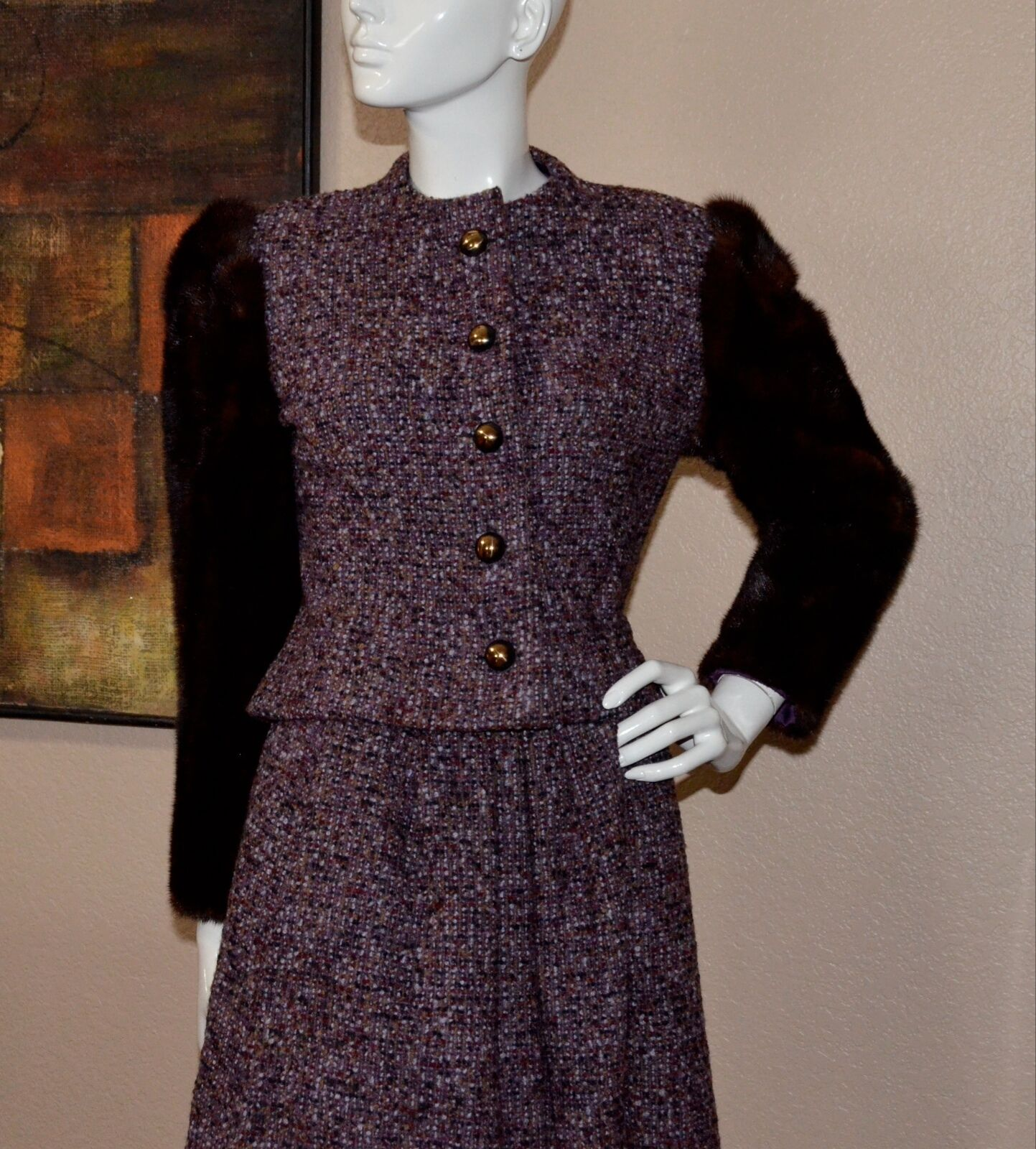 Arnold Scaasi Couture Stunning Vintage Mink Cropp… - image 7