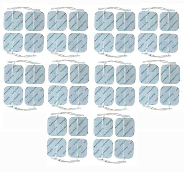 40 TENS ELECTRODES PADS 5cm x 5cm HIGH QUALITY TENS PADS REUSABLE UK VAT REG