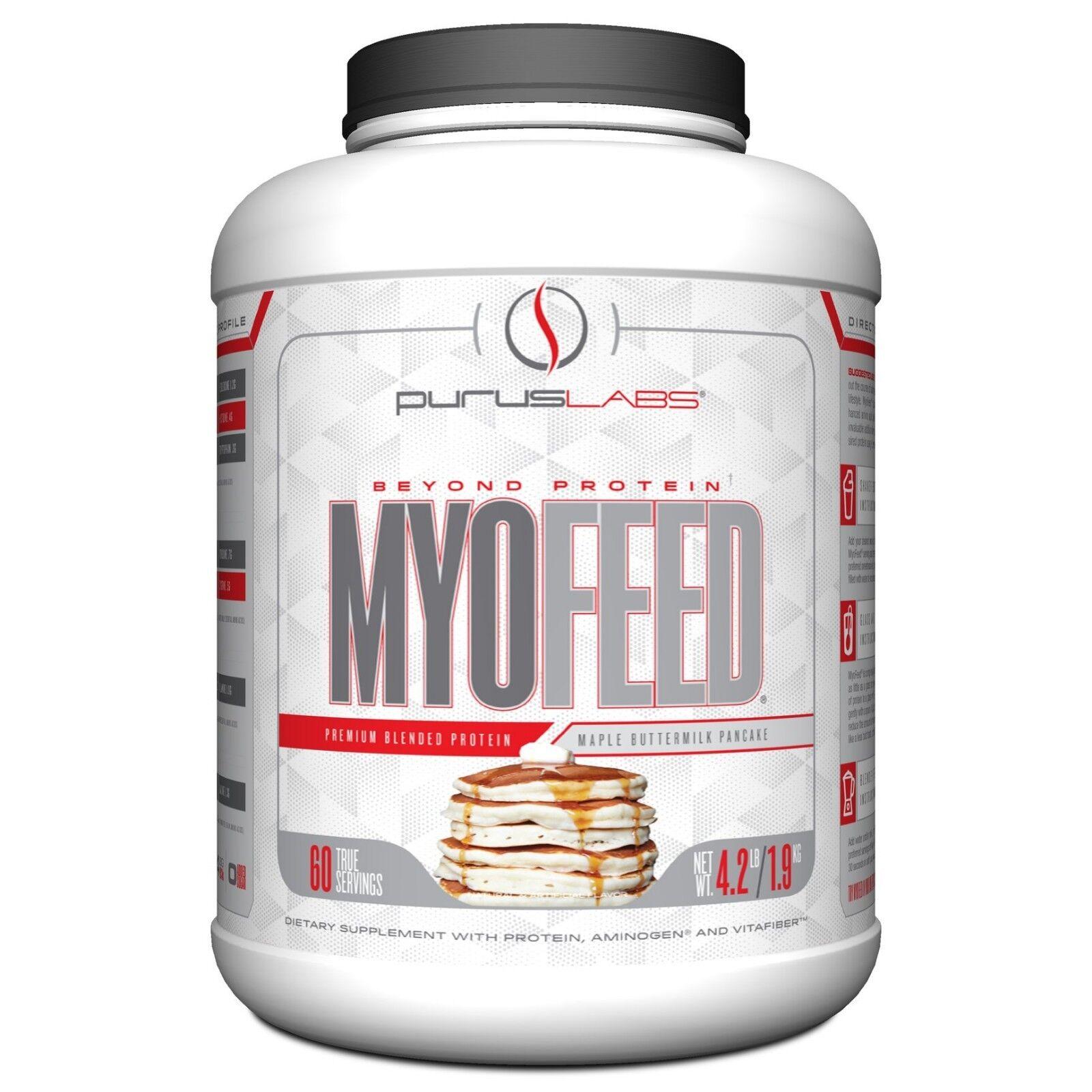 Purus Labs Myofeed Protein 2kg - 60 Servings Amino-Rich Faser Wählen Sie