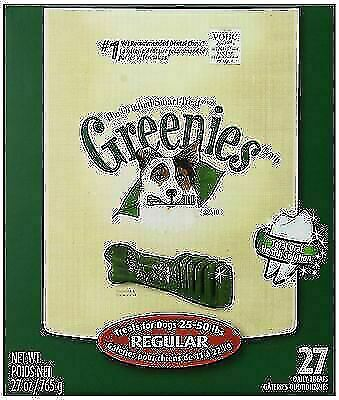 Greenies 10123686 27oz Dental Treat for Dogs Regular Size - 27  Treats