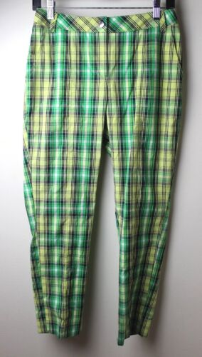 S ANNIKA Stretch Cotton Plaid Pants Womens Size 0
