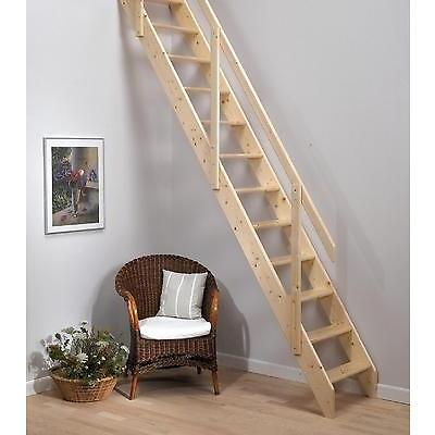 Dolle 'Madrid' Wooden Space Saving/Saver Staircase Kit (Timber Stairs / Ladder)