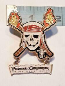 Pirates of the Caribbean Dead Man/'s Chest Skull Logo Disney Pin 46399