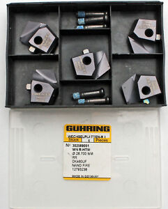 5-pezzi-VHM-nano-fire-Punta-da-trapano-elicoidale-guhring-WN-r-htw-D-26-7-mm