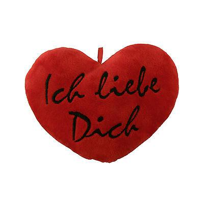 ROT mit Hänger Valentinstag HERZKISSEN ICH LIEBE DICH 23x20cm Geschenk