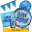 thumbnail 1 - BLUE GLITZ - ALL AGES - Birthday Party Range - Tableware Supplies Decorations