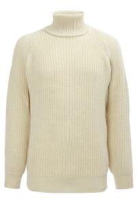 SD-100-Puro-Nuova-Lana-Roll-Neck-Workwear-Top-Giacca-Maglione-a-freddo-R761
