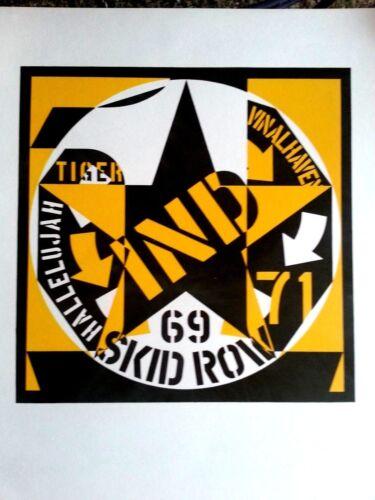 Original lithograph Robert Indiana Skid Row XXe 1973