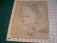 Vintage Original 1866 Mitchell Map: THE WESTERN HEMISPHERE map # 1