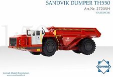 Conrad Sandvik TH550 Underground Mining Dump Truck - Soletanche O scale 1/50 MIB
