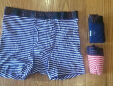 Men's Boxer briefs 3 pair Jockey active blend wicking purple pink striped new