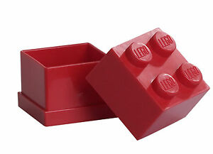 LEGO Storage MINI Snackbox 4 ROT perfeckt in Brotdose Schule Lunchbox RED NEU