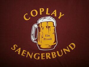 Coplay-Saengerbund-T-Shirt-Ein-Prosit-Biere-Chope-Stein-Allemand-Pennsylvania-M