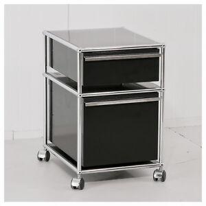 Rollcontainer Schwarz usm haller rollcontainer bürocontainer container schwarz ebay